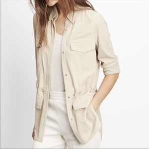 Vince Sueded Leather Butter Soft Jacket